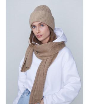 Беата комплект (шапка+шарф) трикотажный
