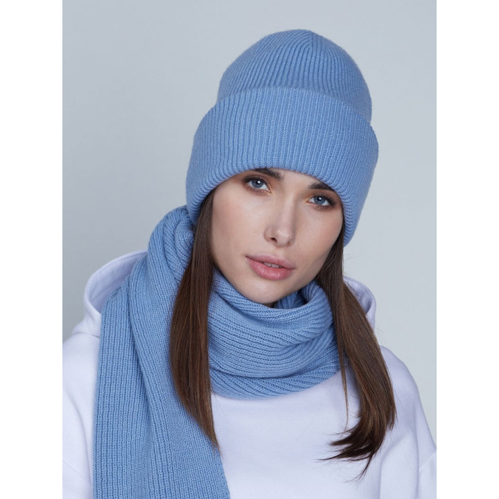 Ботаника комплект (шапка+шарф) трикотажный
