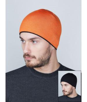 Дека шапка двухсторонняя унисекс трикотажная