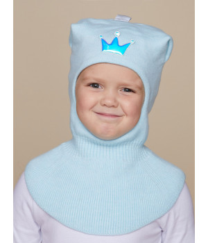Мила шапка-шлем трикотажная