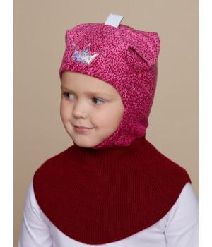 Снежинка шапка-шлем трикотажная