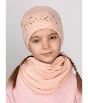 Снежка шапка детская трикотажная
